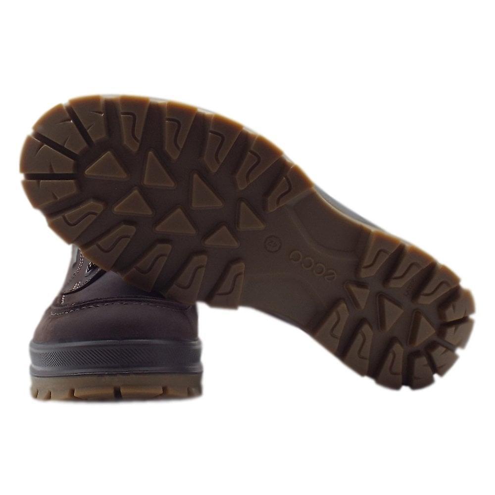 ECCO 838004 Robust Spår Män & Apos; s Lace-up Gore-tex skor i Mocca