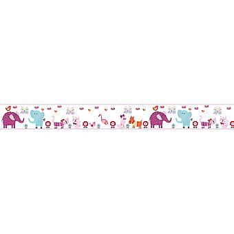 Children's Cute Pets Design Children's Self Adhesive Vinyl 5M Wallpaper Border