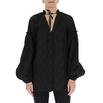 Wandering Wgs20256009 Women's Black Cotton Shirt