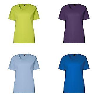 ID Womens/damer Pro slitage Kortärmad regelbundna passande rund hals T-Shirt