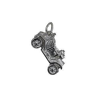 Винтажный автомобиль кулон серебро 10x20mm