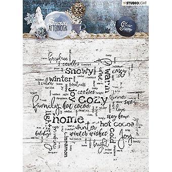 Studio Light Stamp 14x14 Achtergrond Besneeuwde Middag nr 400 STAMPSA400