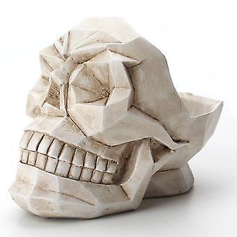 Bakeey abstracte schedel patroon hars desktop telefoon houder opslag box office bar huis ambachten ornamenten model