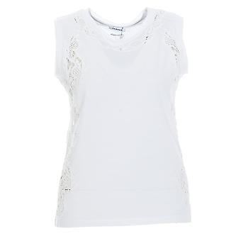 P.a.r.o.s.h. D110621white Women's White Cotton Top