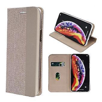 Samsung Galaxy A40-smart Senso veske mobil lommebok-gull