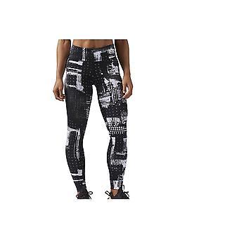 Reebok Lux Tight Geocast CF5905 käynnissä ympäri vuoden naisten housut