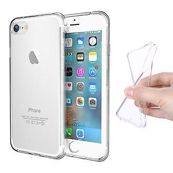 Stuff Certified® iPhone SE (2020) Full Body 360 ° Transparent TPU Silikonfodral + PET Skärmskydd