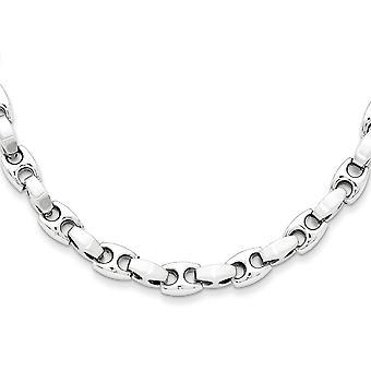 Roestvrij staal geborsteld gepolijst fancy kreeft sluiting ketting 20 inch sieraden geschenken voor vrouwen