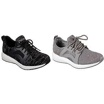Skechers Womens/Ladies Bobs Sport Squad Glossy Finish Trainers