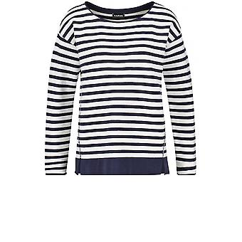 Taifun Navy & White Striped Jumper