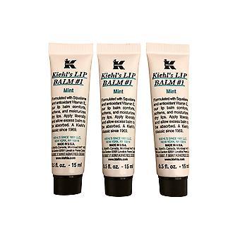 Kiehl's Lip Balm #1 - Mint 0.5oz Pack of 3