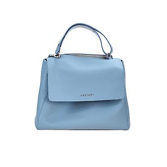 Orciani Bt2006softortensia Women's Light Blue Leather Handbag