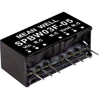 Mean Nou SPBW03F-05 DC / DC converter (module) 600 mA 3 W Nr. van de uitgangen: 1 x