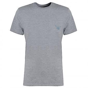 EA7 Męska koszulka z szarym salonem