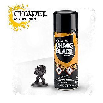 Citadel Paint - citadel spray CHAOS BLACK SPRAY