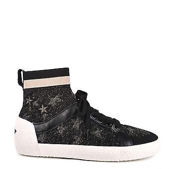 Ash Footwear Ninja Star Black Knit With Star Print Trainers