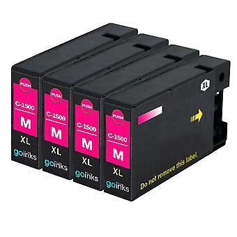 4 Cartucce di inchiostro per stampante Magenta Compatible PgI-1500XLM