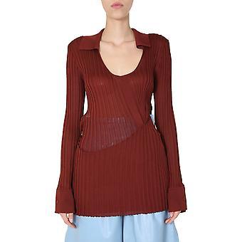 Bottega Veneta 618567vkjm08857 Kvinder's Bourgogne Silke Sweater