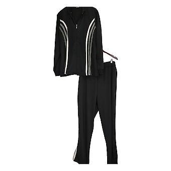 Masseys Plus Set Kontrast-Streifen Track Anzug schwarz