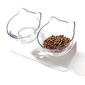 Non Slip Cat Bowl Double Bowls With Raised Stand Pet - Food And Water Bowls