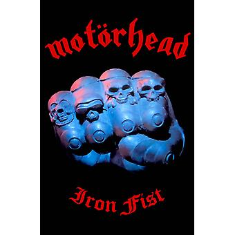 Motorhead Poster Iron Fist band logo new Official  textile flag 70cm x 106cm