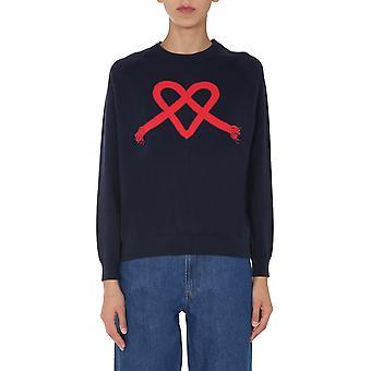 Ps Door Paul Smith W2r791ke3061749 Women's Blue Cotton Sweater