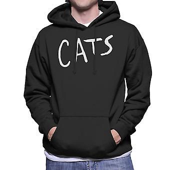 Cats Text Logo Men's Hooded Sweatshirt