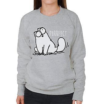 Simon's Cat Purrfect Women's Sweatshirt