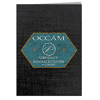 Shape Of Water Occam Aerospace Research Centre Greeting Card