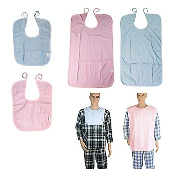 Waterproof Lavable Short Adults Disability Bib Mealtime Clothing Protector