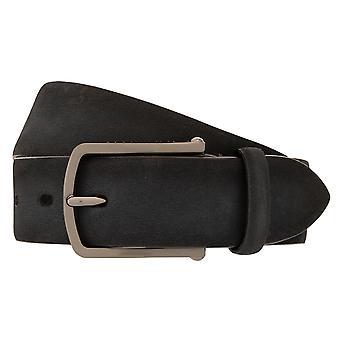 buugatti belt full cowhide men's belt suede suede grey 3026