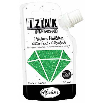 Aladine Izink Diamond Glitter Paint Green 80ml.