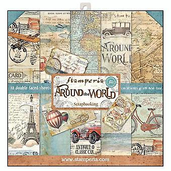 حول العالم 12x12 بوصة ورقة حزمة (SBBL28)