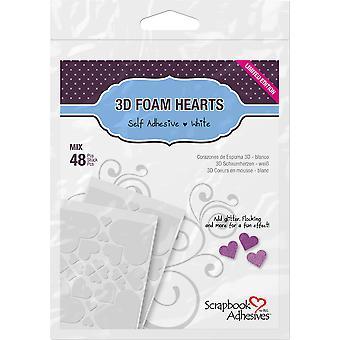 Scrapbook Adhesives 3D Foam Hearts (48pcs) (01208)