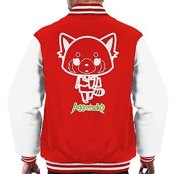 Aggretsuko Retsuko Office Attire Outline Men's Varsity Jacket