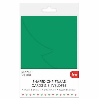 Simply Creative Christmas Card & Envelope Tree