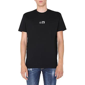 Dsquared2 S79gc0010s23009900 Herrar's Svart Bomull T-shirt