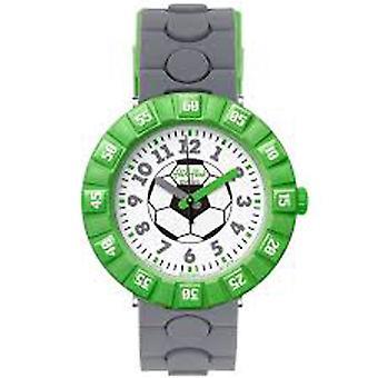Flik Flak hodinky Fcsp070 Hat-Trick zelená & grey silikónové hodinky