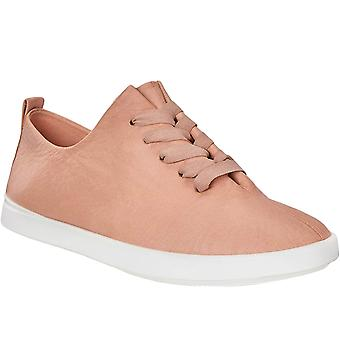 Ecco Womens Leisure Lightweight Leather Casual Trainer - Rosa - 6.5-7(40EU)