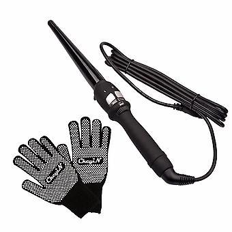 Nueva herramienta de peinado de rizadores de pelo de 14-25 mm de calentamiento rápido (negro)