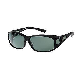 Sunglasses Women's Black with Green Lens VZ1002A