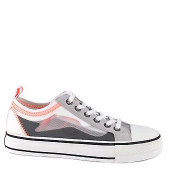 Ash Footwear Vertu Transparent Lace-up Trainers Pearl/fog