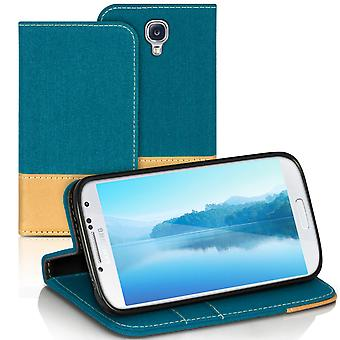 Samsung Galaxy S4 Mini Leatherette Shell Shockproof Card Holder Mobile Full Cover