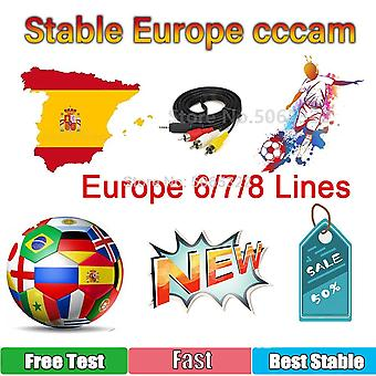 6/7/8 Europe-cline Cccam Poland 4k Free-oscam Cline Germany Fast Stable Server Spain-portugal-sweden Hot Receptor Support