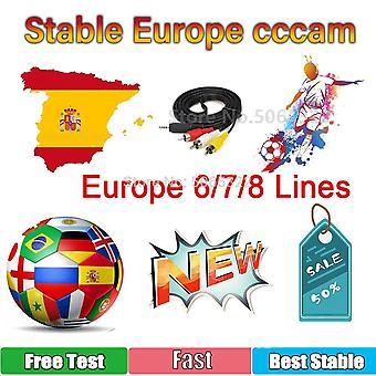 6/7/8 Europe-Cline CCCAM Poland 4k Free-Oscam Cline Germany Fast Stable Server Spain-portugal-Sweden Hot Receptor Support