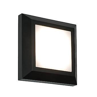 Saxby Severus - Intégré LED 1 Lumière Extérieure Lumière Lumière Noire Abs Plastique, IP65 givré