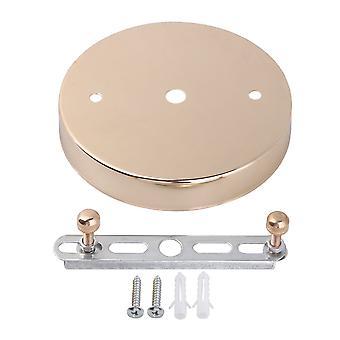 12cm Deckenleuchte Teller Disc Golden Mirror Finish