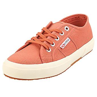 Superga Cotu Classic Womens Classic Trainers in Red Etruscan Off White