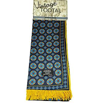 Krawatten Planet Tootal Marine blau, Royal Blau, gelb & rot gemusterte Seide Schal