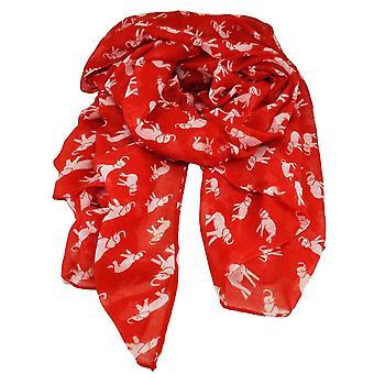 Krawaty Planet Elephant Animal Print Czerwony Lekkie Kobiety&s Szal szalik